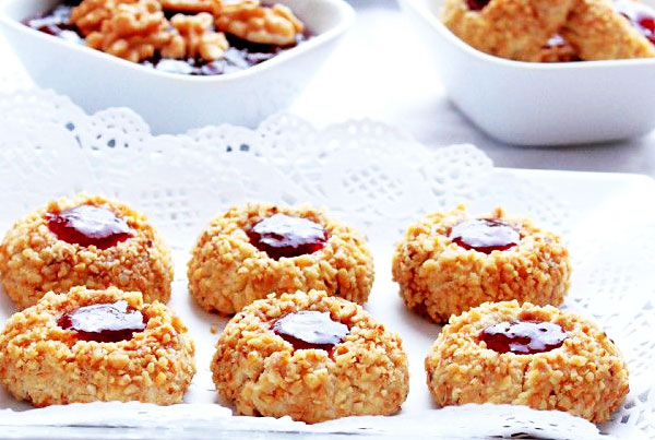 Biscuits amandes fraise