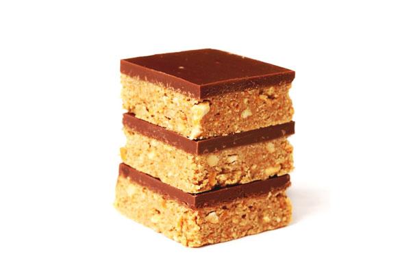 Choco peanut honey squares