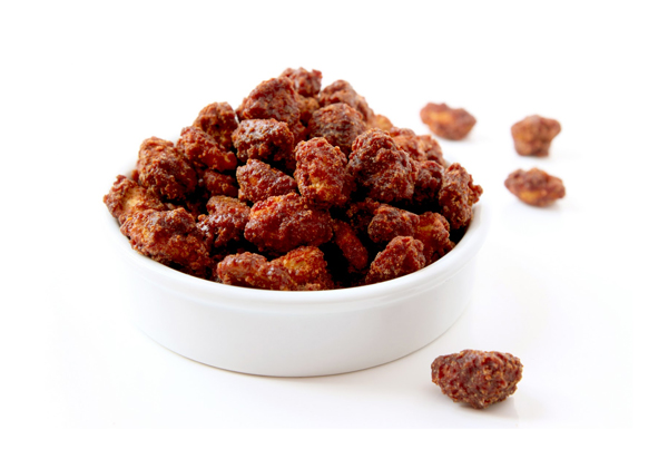 Caramelized peanuts