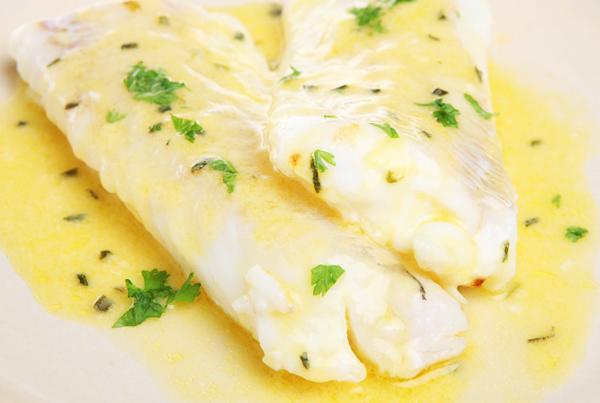 Yoghurt Sauce and lemon butter