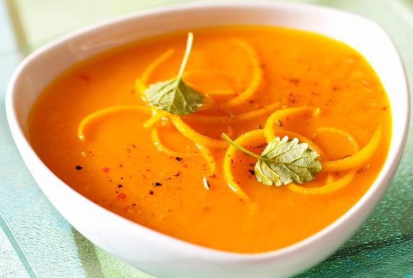 Creamy pumpkin carrots