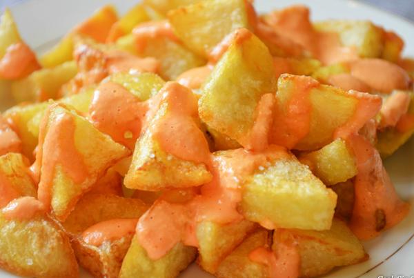 Patatas Bravas Sauce Mayonnaise